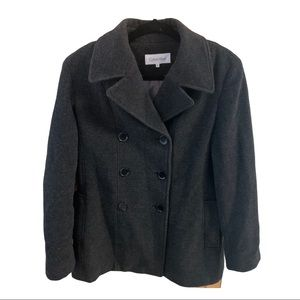 Calvin Klein Double Breasted Peacoat